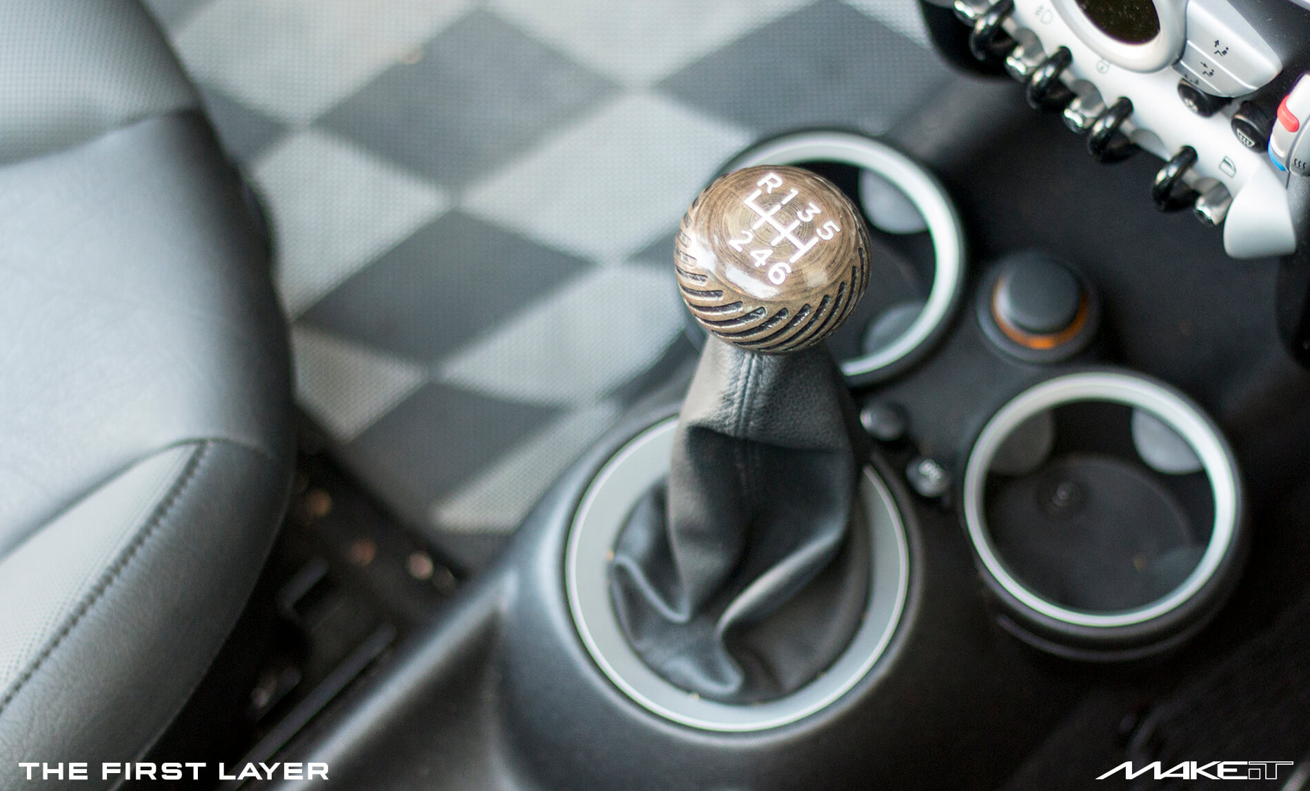 3D Printed Shift Knob for Mini Cooper