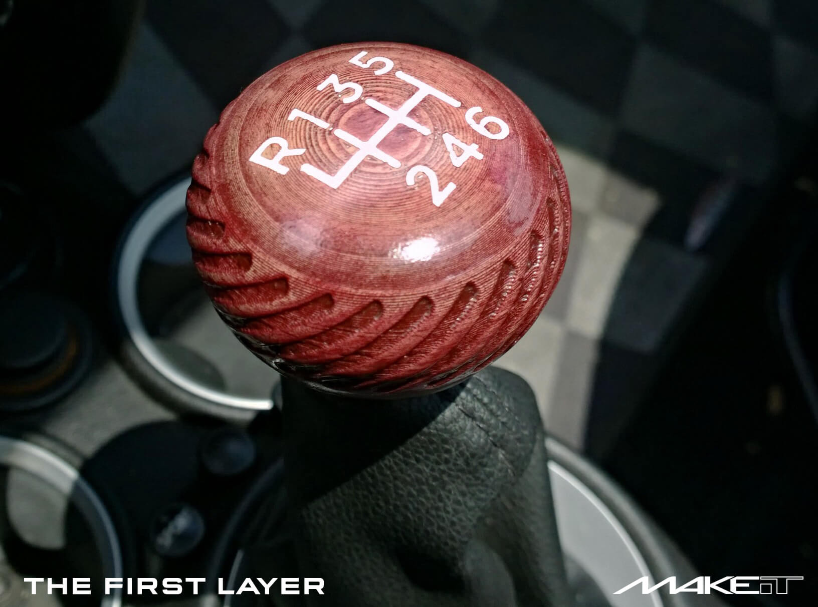 3D printed shift knob mini cooper